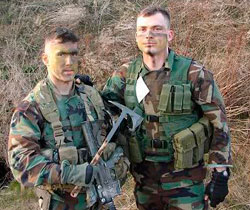 Soldiers with modern tomahawk