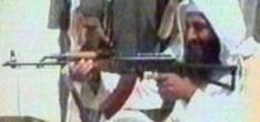 Bin Laden firing a Kalashnikov