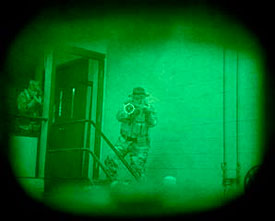 Image captured through a night vision EOTech